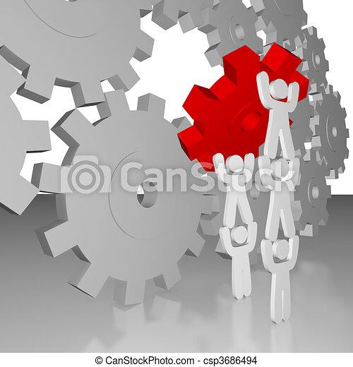 -, lavoro, lavoro squadra, completare - csp3686494