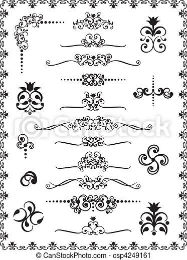 1, disegno, ornamenti - csp4249161