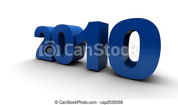 2010, anno nuovo - csp2535056