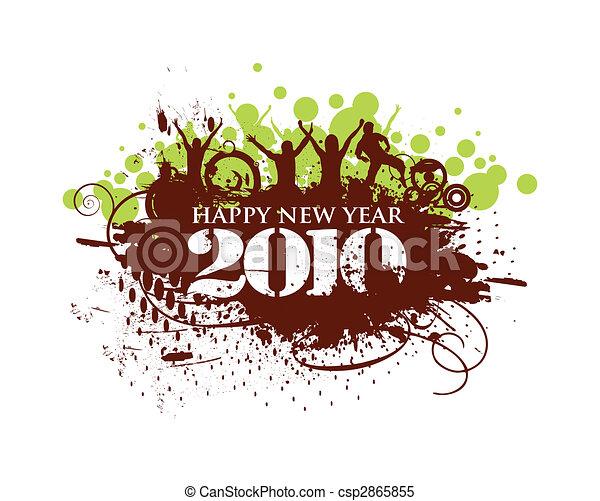 2010, anno nuovo, fondo - csp2865855