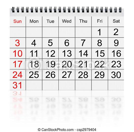 2010, calendario, gennaio - csp2979404