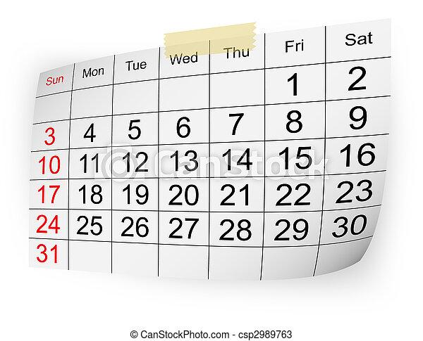 2010, calendario, gennaio - csp2989763