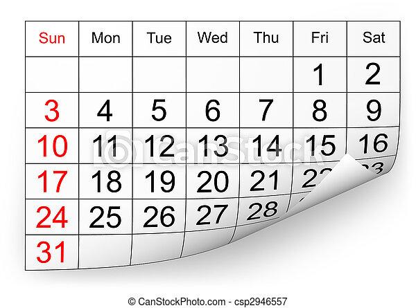 2010, calendario, gennaio - csp2946557