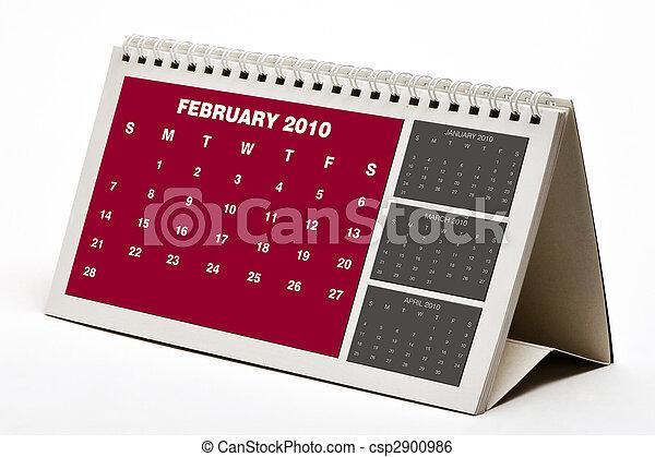 2010, febbraio, calander. - csp2900986