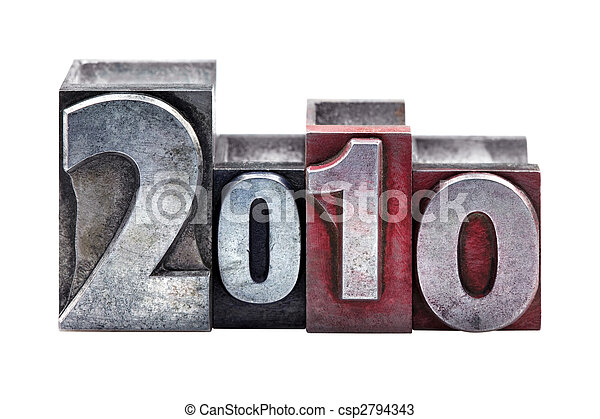 2010, letterpress - csp2794343