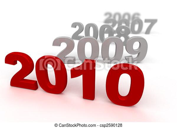 2010, rosso - csp2590128