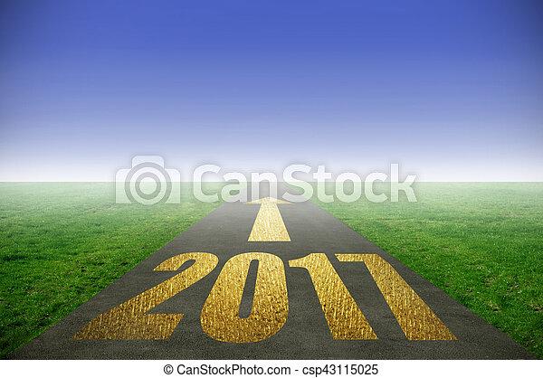 2017, oro, strada - csp43115025