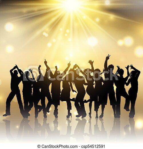 2201, oro, persone, starburst, fondo, festa - csp54512591