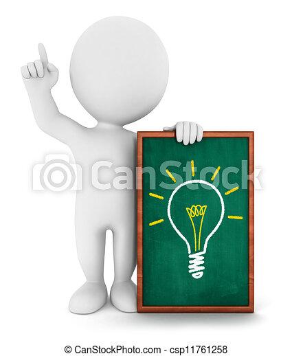 3d, bianco, ha, idea, persone - csp11761258