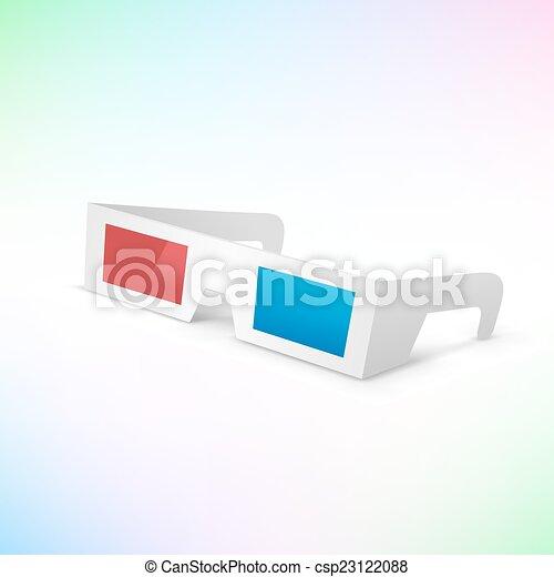 3d occhiali - csp23122088