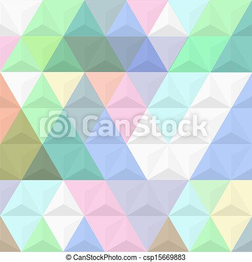 3d, sfondo colorato, piramidi - csp15669883