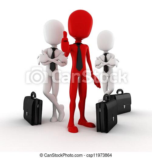 3d, successo, uomo affari - csp11973864
