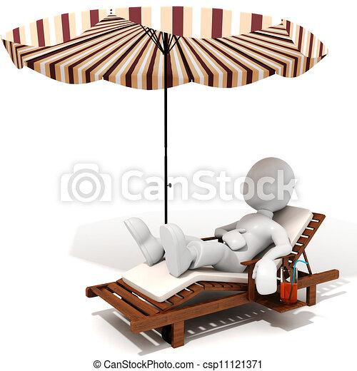 3d, vacanza, uomo - csp11121371
