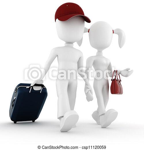 3d, vacanza, viaggiatore, uomo - csp11120059