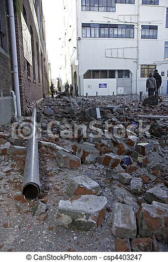 4, terremoto, 2010, christchurch, sep - csp4403247