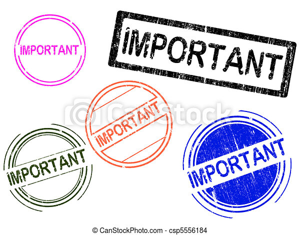 5, francobolli, grunge, -important - csp5556184
