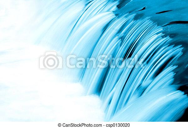acqua blu, flusso, dettaglio - csp0130020
