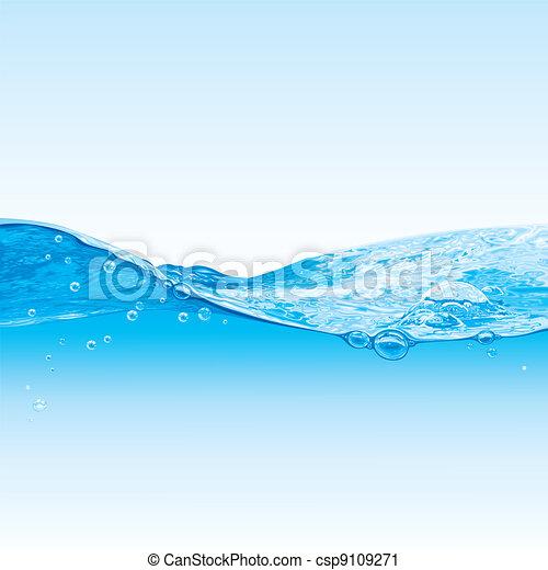 acqua, bolle, fondo, onda - csp9109271