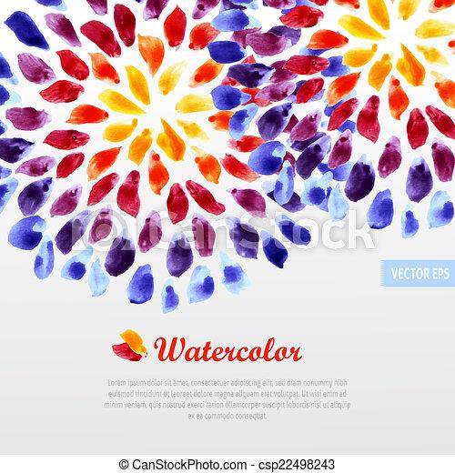 acquarello, arcobaleno, pennellate, sagoma, colorito - csp22498243