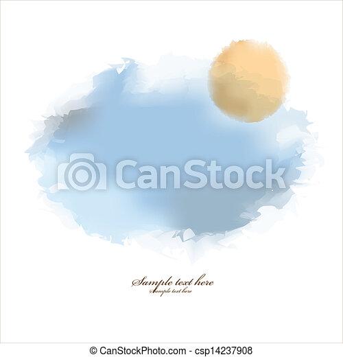 acquarello, astratto, fondo - csp14237908