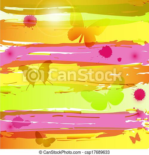 acquarello, butterfl, fondo - csp17689633