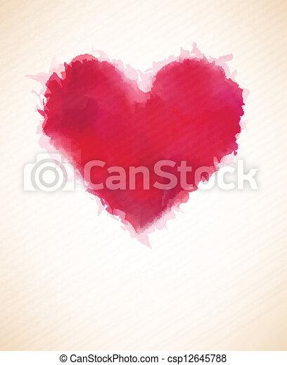 acquarello, heart. - csp12645788