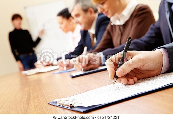 addestramento, affari - csp4724221