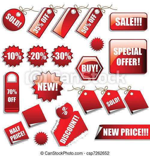 adesivi, vendite, etichette - csp7262652
