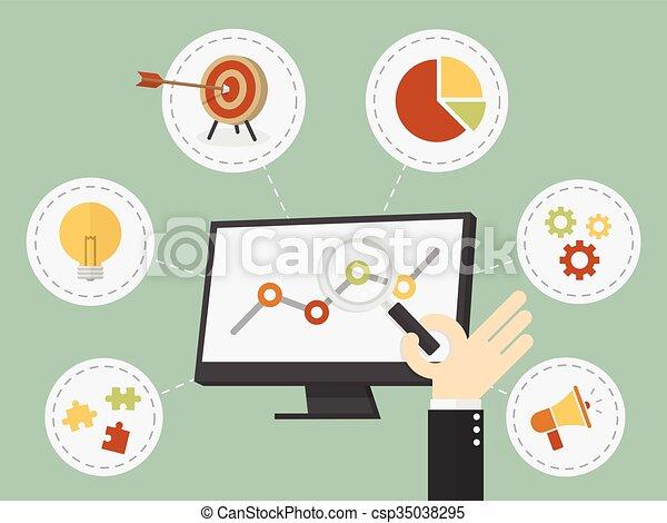 affari, analisi - csp35038295
