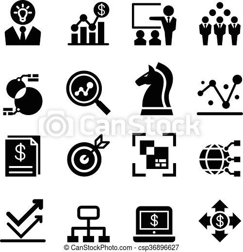affari, analisi, icona - csp36896627