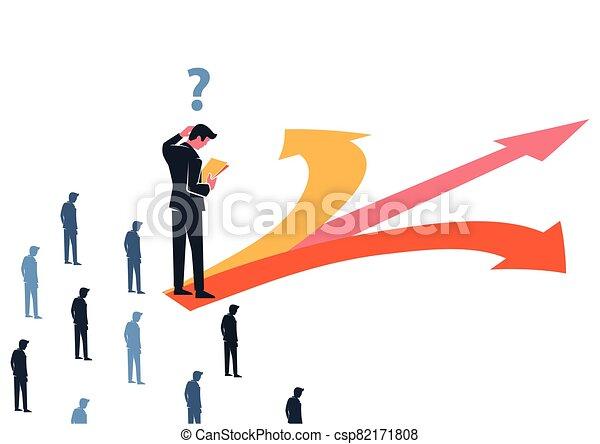 affari, confuso, decisione, direzione, direttore, fare - csp82171808