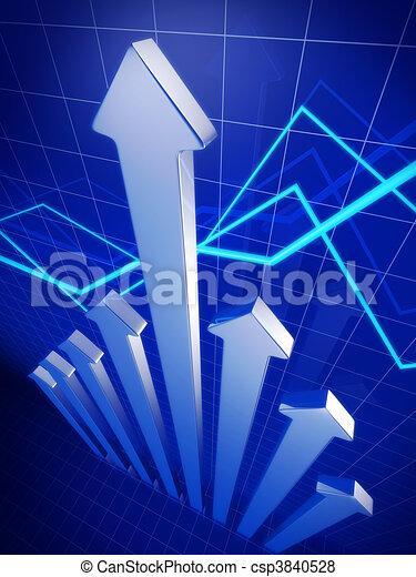 affari, finanziario, su, crescita, freccia appuntita, concetto - csp3840528
