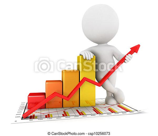 affari persone, statistico, 3d, bianco - csp10256073