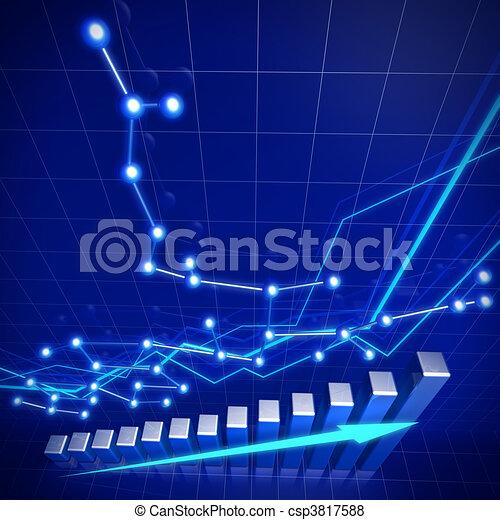 affari, rete finanziaria, crescita, concetto - csp3817588