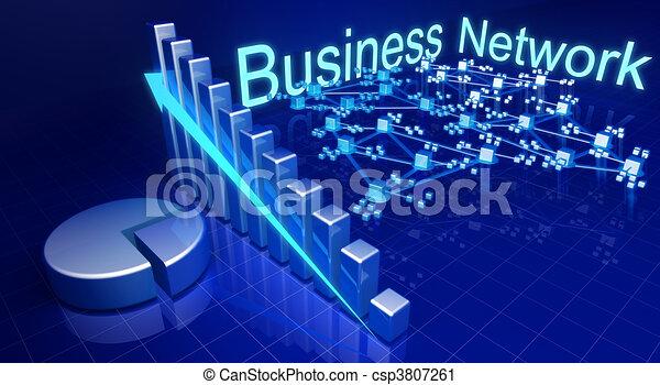 affari, rete finanziaria, crescita, concetto - csp3807261