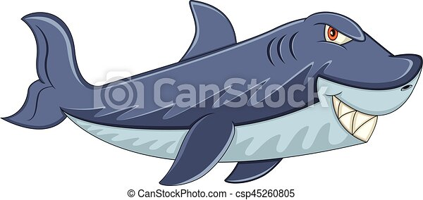 affilato, squalo, cartone animato, denti - csp45260805