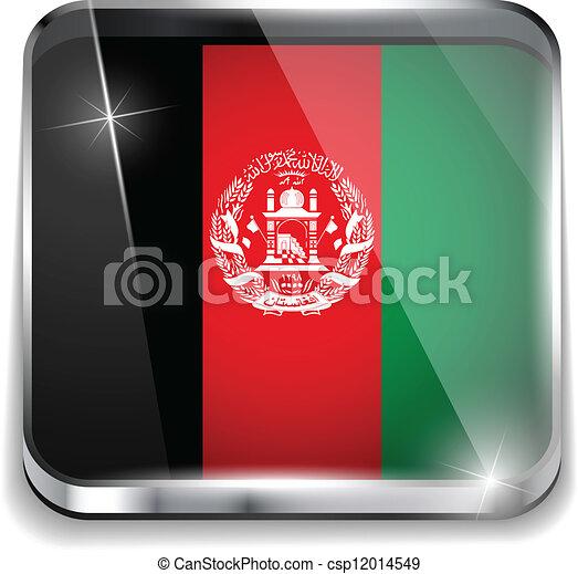 afghanistan, smartphone, bottoni, domanda, bandiera, quadrato - csp12014549