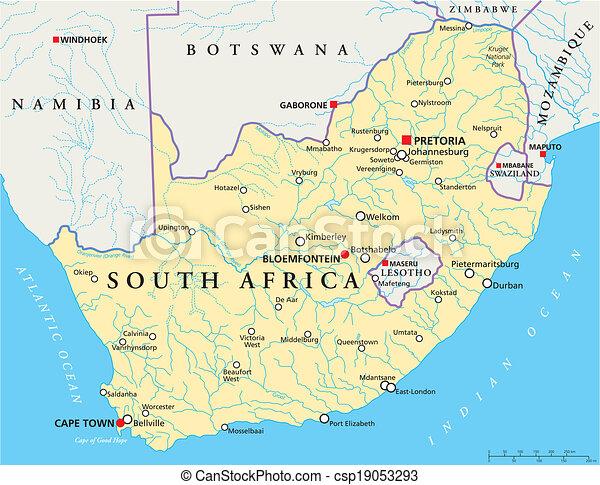 africa, politico, sud, mappa - csp19053293