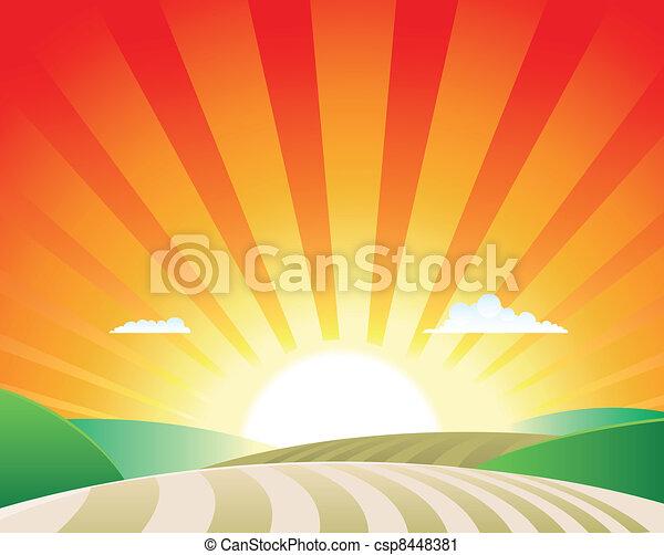 agricoltura, paesaggio - csp8448381