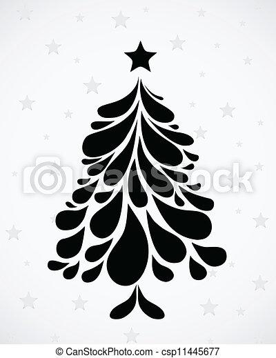 albero., astratto, vettore, natale - csp11445677