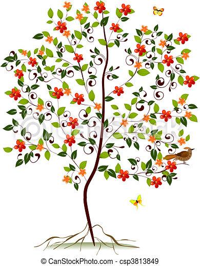 albero flowering, giovane - csp3813849