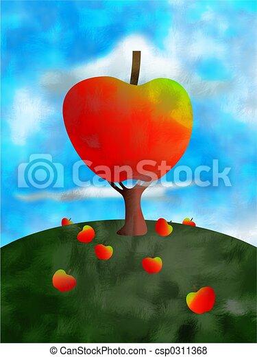 albero, mela - csp0311368