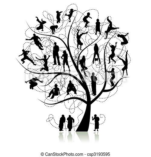 albero, parenti, famiglia - csp3193595