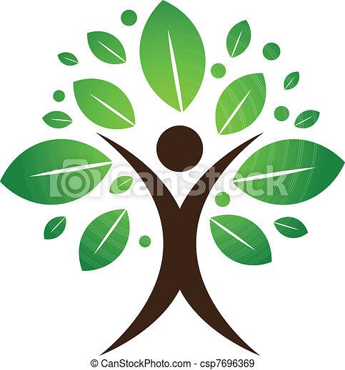 albero, umano - csp7696369
