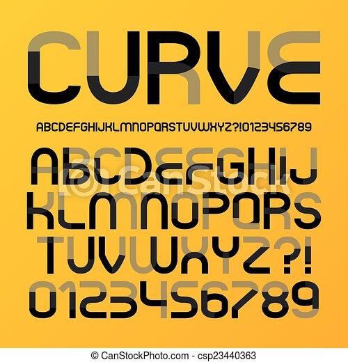 alfabeto, astratto, curva, futuristico - csp23440363