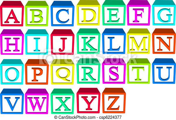 alfabeto blocca - csp6224377
