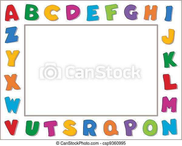 alfabeto, cornice - csp9360995