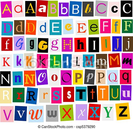 alfabeto - csp5379290