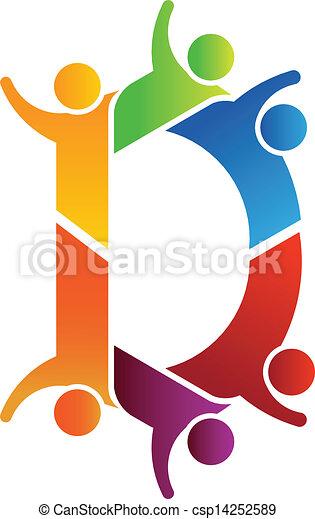 alfabeto, lavoro squadra, d, lettera - csp14252589