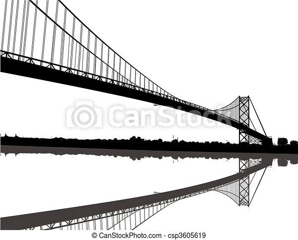 ambasciatore, silhouette, ponte - csp3605619